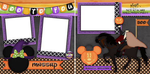 Boo To You - Digital Scrapbook Pages - INSTANT DOWNLOAD