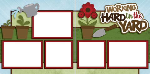 Working Hard in the Yard - Digital Scrapbook Pages - INSTANT DOWNLOAD