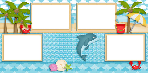 Ocean Friends - Digital Scrapbook Pages - INSTANT DOWNLOAD