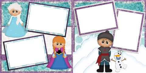 Frozen Friends - Digital Scrapbook Pages - INSTANT DOWNLOAD