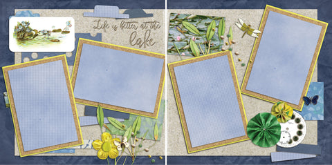 Life is Better at the Lake - 2088 - EZscrapbooks Scrapbook Layouts Camping - Hiking, Hunting - Fishing, Summer
