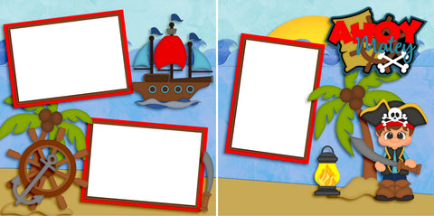 Ahoy Matey Boy - Digital Scrapbook Pages - INSTANT DOWNLOAD