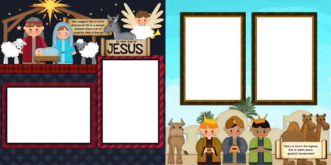 Nativity - Digital Scrapbook Pages - INSTANT DOWNLOAD
