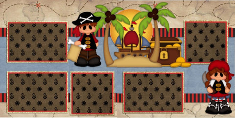 Pirate Kids - 788 - EZscrapbooks Scrapbook Layouts Disney, Halloween, Other