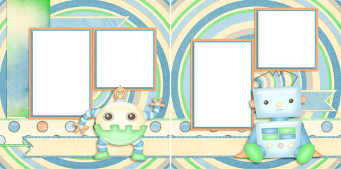 Little Roboto - Digital Scrapbook Pages - INSTANT DOWNLOAD - 2019