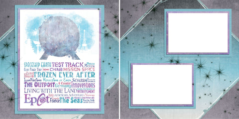 Epcot Phrases - Digital Scrapbook Pages - INSTANT DOWNLOAD