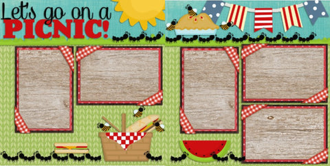 Picnic - 78 - EZscrapbooks Scrapbook Layouts Family, seasons, Summer, Swimming - Pool