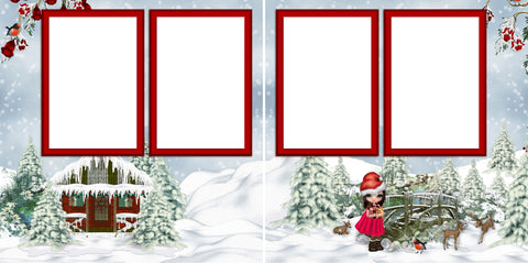 Christmas Cutie - Digital Scrapbook Pages - INSTANT DOWNLOAD - EZscrapbooks Scrapbook Layouts Baby - Toddler, Christmas, Girls, Winter