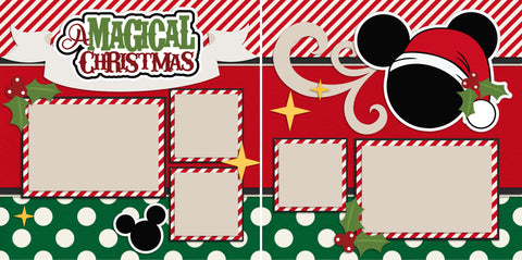 Magical Christmas - 2191 - EZscrapbooks Scrapbook Layouts Disney