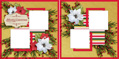 Merry Christmas - Digital Scrapbook Pages - INSTANT DOWNLOAD