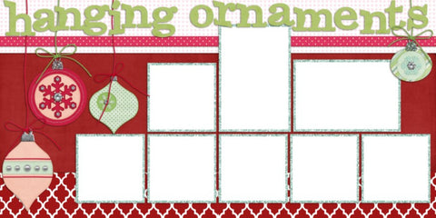 Hanging Ornaments - Digital Scrapbook Pages - INSTANT DOWNLOAD