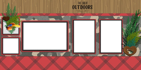 Manly - Digital Scrapbook Pages - INSTANT DOWNLOAD - EZscrapbooks Scrapbook Layouts Hunting - Fishing