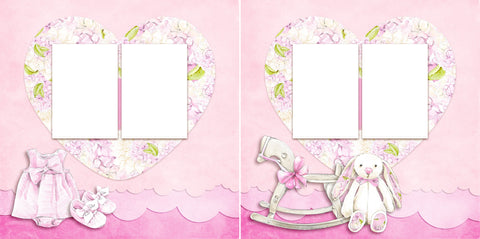 Sweet Baby Girl - Digital Scrapbook Pages - INSTANT DOWNLOAD