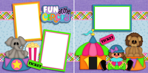 Fun at the Circus - Digital Scrapbook Pages - INSTANT DOWNLOAD