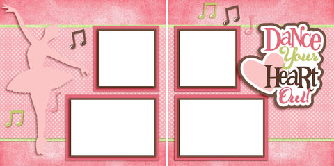 Dance Your Heart Out - Digital Scrapbook Pages - INSTANT DOWNLOAD