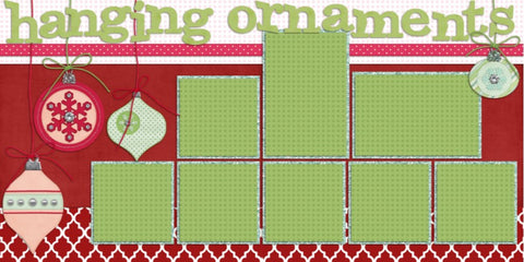 Hanging Ornaments - 577 - EZscrapbooks Scrapbook Layouts Christmas