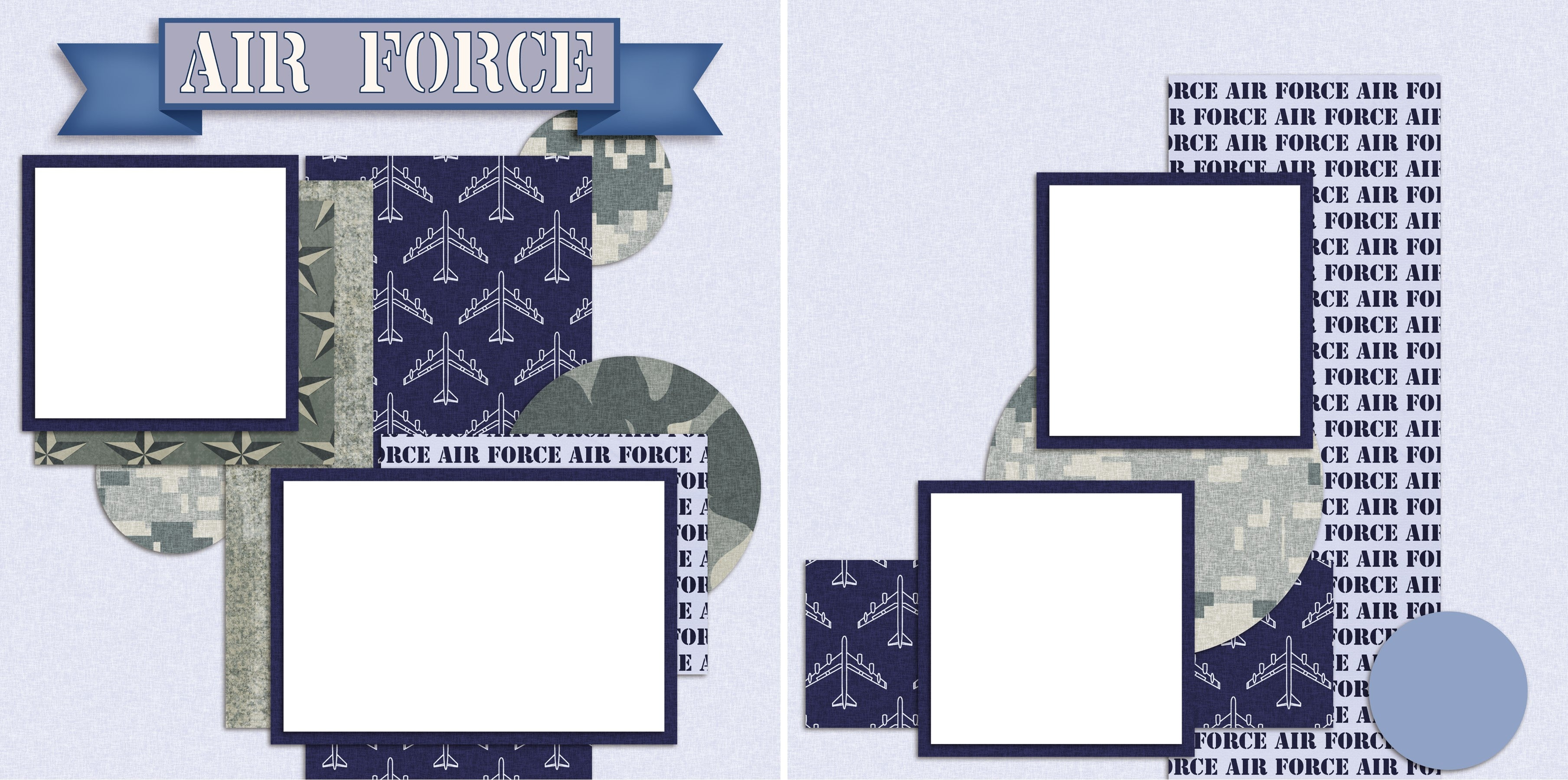 Air Force - Digital Scrapbook Pages - INSTANT DOWNLOAD