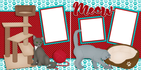 Meow - Digital Scrapbook Pages - INSTANT DOWNLOAD