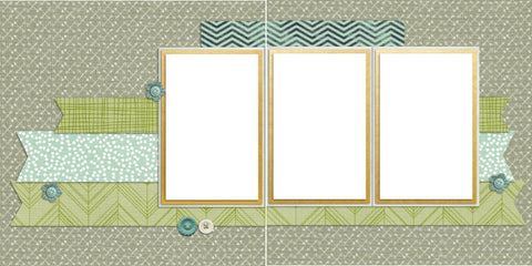 Baby Boy Blue - Digital Scrapbook Pages - INSTANT DOWNLOAD - EZscrapbooks Scrapbook Layouts Baby - Toddler, Boys