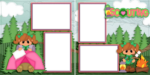 Scouting Girl - Digital Scrapbook Pages - INSTANT DOWNLOAD