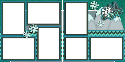 Ski Trip - Digital Scrapbook Pages - INSTANT DOWNLOAD