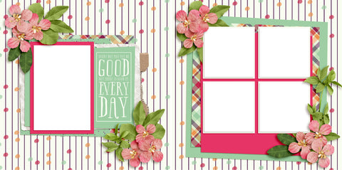 Good Day - Digital Scrapbook Pages - INSTANT DOWNLOAD