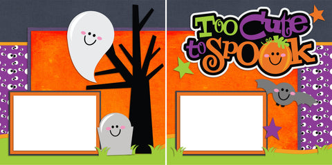Too Cute to Spook - Digital Scrapbook Pages - INSTANT DOWNLOAD