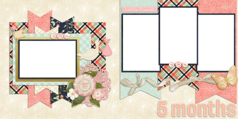 Baby Girl 5 Months - Digital Scrapbook Pages - INSTANT DOWNLOAD
