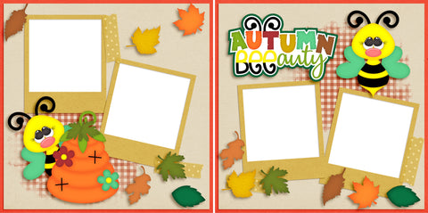 Autumn Beeauty - Digital Scrapbook Pages - INSTANT DOWNLOAD