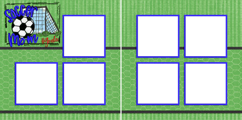 Soccer Mom - Digital Scrapbook Pages - INSTANT DOWNLOAD - EZscrapbooks Scrapbook Layouts soccer, Sports