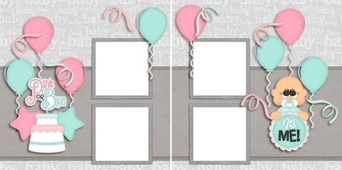 Pink or Blue Boy - Digital Scrapbook Pages - INSTANT DOWNLOAD