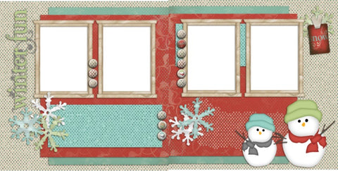 Winter Fun - 116 - EZscrapbooks Scrapbook Layouts seasons, Winter