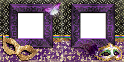 Masked Celebration - Digital Scrapbook Pages - INSTANT DOWNLOAD