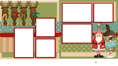Old Saint Nick - Digital Scrapbook Pages - INSTANT DOWNLOAD