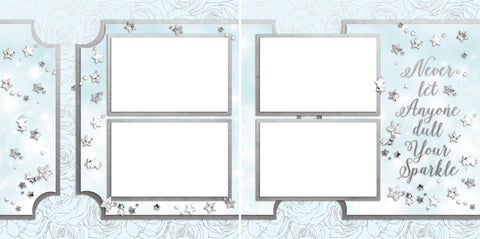Sparkle - Digital Scrapbook Pages - INSTANT DOWNLOAD - EZscrapbooks Scrapbook Layouts Girls, Other