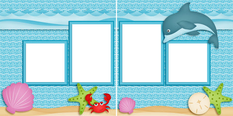 Dolfin Fun - Digital Scrapbook Pages - INSTANT DOWNLOAD