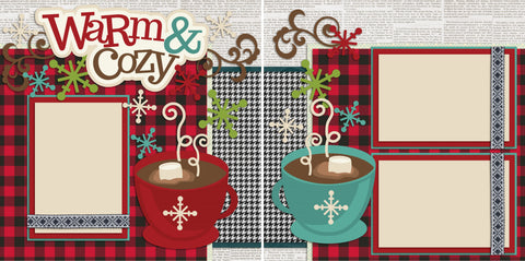 Warm & Cozy - 2161 - EZscrapbooks Scrapbook Layouts Christmas, Winter
