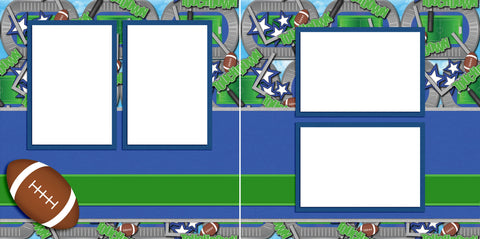 Play Ball - Digital Scrapbook Pages - INSTANT DOWNLOAD - EZscrapbooks Scrapbook Layouts football, sports