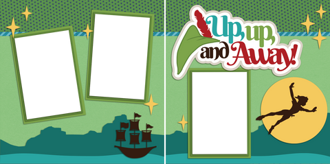 Up Up and Away - Digital Scrapbook Pages - INSTANT DOWNLOAD - EZscrapbooks Scrapbook Layouts Disney