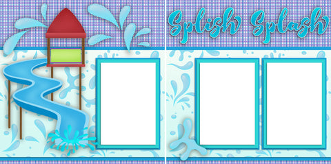 Splish Splash Park - Digital Scrapbook Pages - INSTANT DOWNLOAD