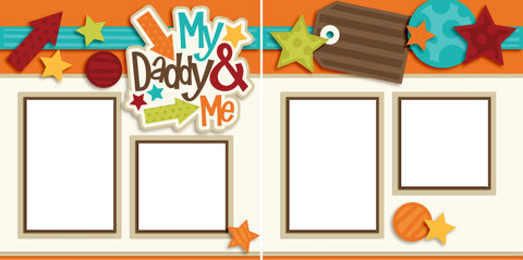 My Daddy and Me Boy - Digital Scrapbook Pages - INSTANT DOWNLOAD