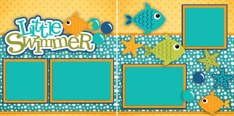 Little Swimmer - 2318 - EZscrapbooks Scrapbook Layouts Beach - Tropical, Swimming - Pool