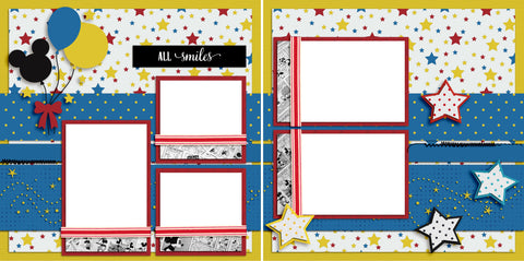 All Smiles - Digital Scrapbook Pages - INSTANT DOWNLOAD
