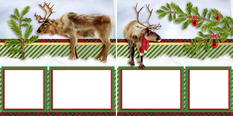 Christmas Beasts - Digital Scrapbook Pages - INSTANT DOWNLOAD
