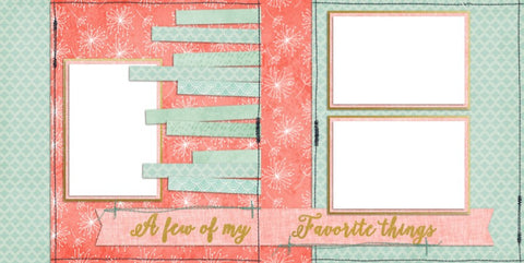 Baby Girl Favorite Things - Digital Scrapbook Pages - INSTANT DOWNLOAD - EZscrapbooks Scrapbook Layouts Baby - Toddler