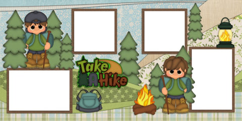 Take a Hike - Digital Scrapbook Pages - INSTANT DOWNLOAD