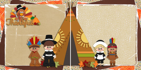 Thanksgiving NPM - 2662 - EZscrapbooks Scrapbook Layouts Thanksgiving
