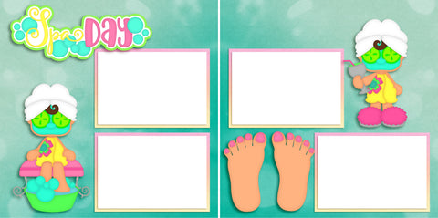 Spa Day - Digital Scrapbook Pages - INSTANT DOWNLOAD