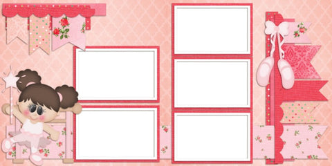 Ballerina Girl - Digital Scrapbook Pages - INSTANT DOWNLOAD - EZscrapbooks Scrapbook Layouts Girls, Sports