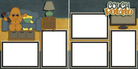 Couch Potato - Digital Scrapbook Pages - INSTANT DOWNLOAD